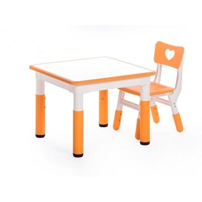 可拼式正方形幼稚園兒童學習桌