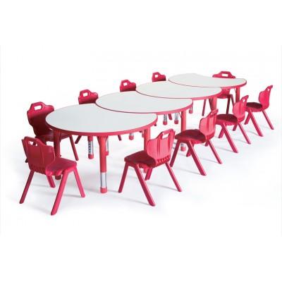 可拼式圓形學習桌