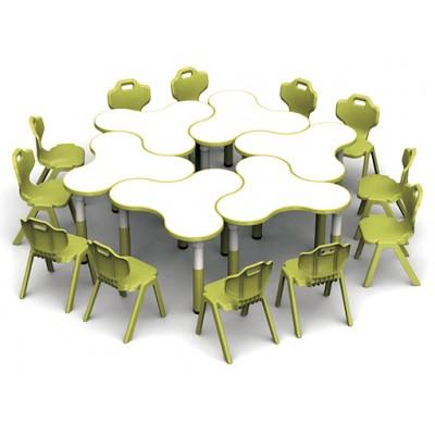 三葉草桌可拼式