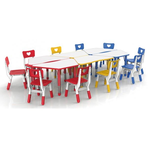 梯形桌可拼式