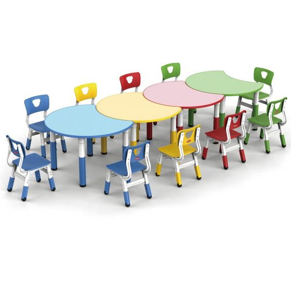 圓桌可拼式