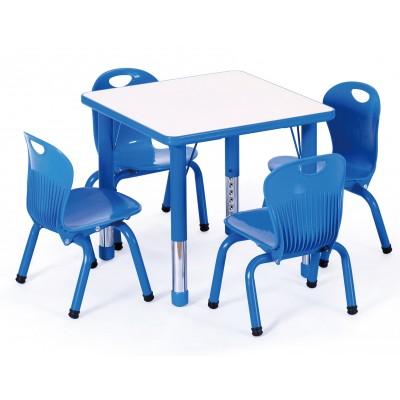 兒童學習桌正方桌豪華型