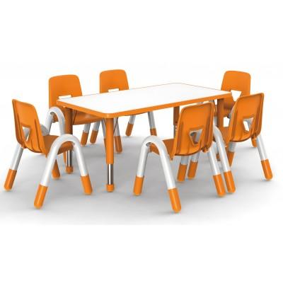 兒童學習桌長方桌豪華型