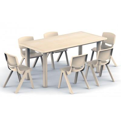 長方桌楓木紋豪華型
