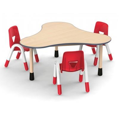 兒童桌三葉形可拼式