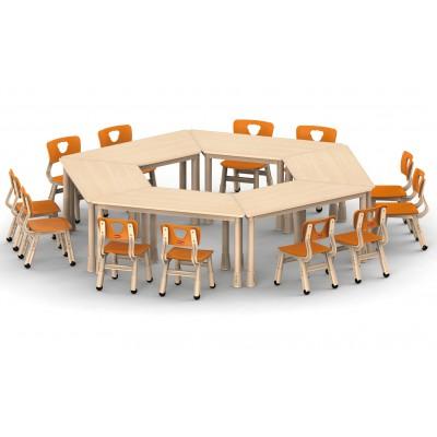 兒童桌梯形可拼式
