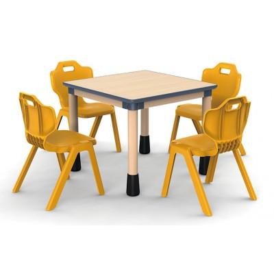 正方桌楓木紋可拼式