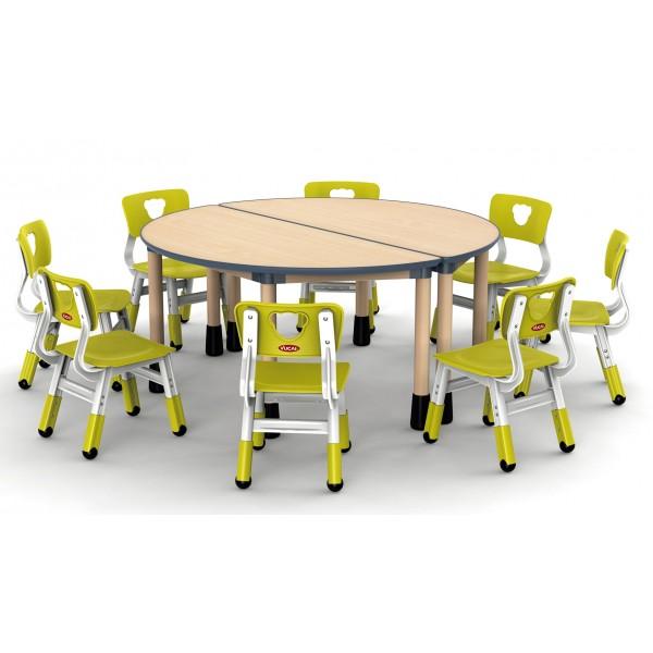 半圓桌兒童款可拼式