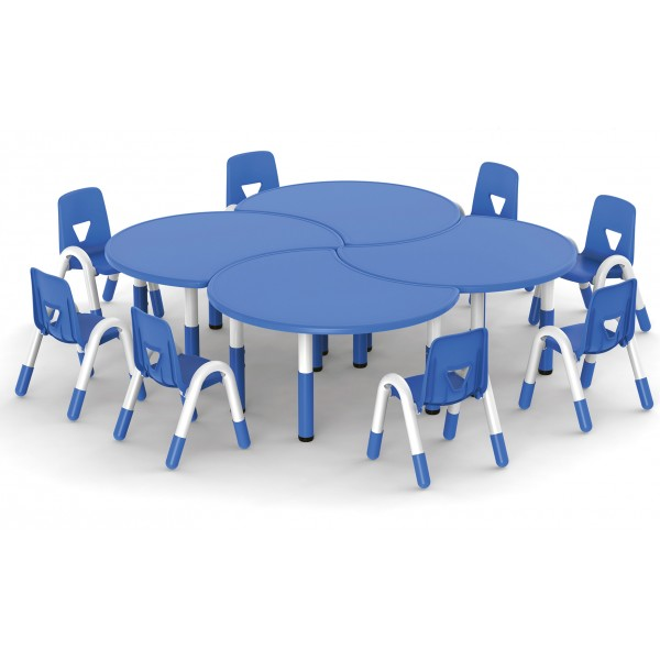 圓桌吹塑面板可拼式