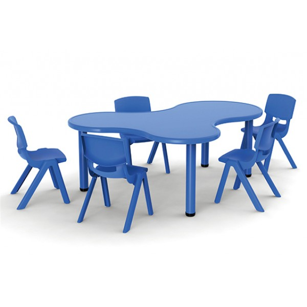 兒童學習桌島嶼形可拼式