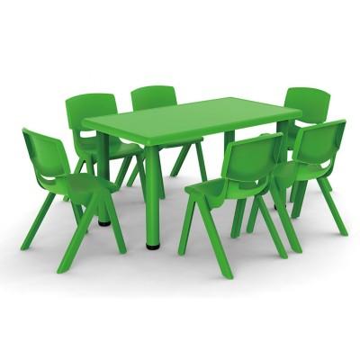 長方桌吹塑面板幼兒學習桌