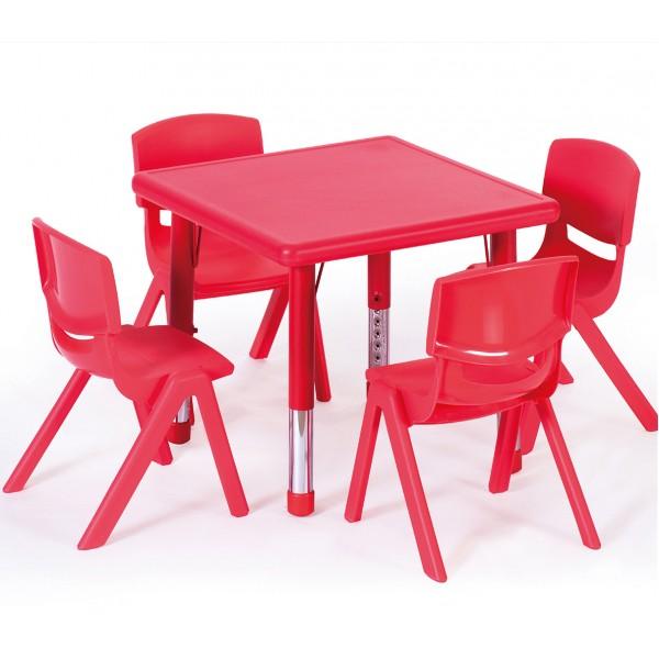 正方桌吹塑面板幼兒學習桌
