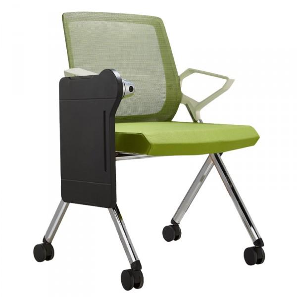 折疊培訓椅子帶寫字板培訓椅公司會議椅學校培訓椅新聞網布椅