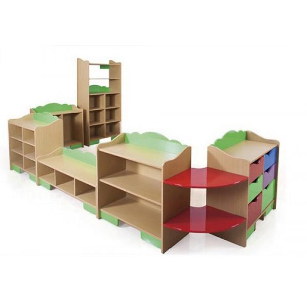 兒童玩具櫃收納櫃轉角區角櫃子組合幼兒園早教親子園書架蒙氏櫃