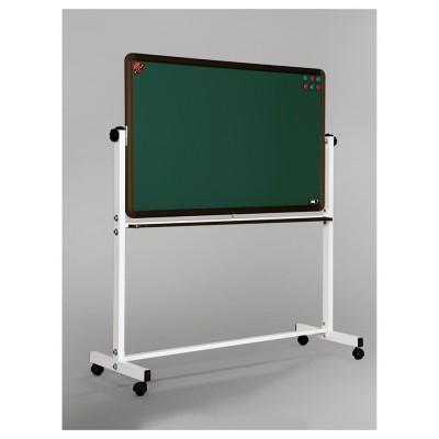 可移動翻轉黑板/學校教學磁性綠白黑板/辦公會議室雙面黑板