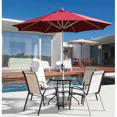 戶外鐵藝特斯林休閒陽台桌椅茶几庭院露天桌椅傘景區桌椅傘套件