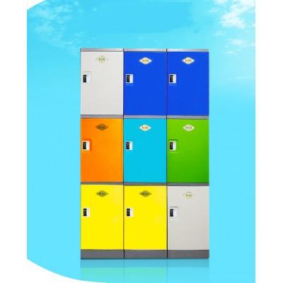 彩色塑料學生儲物櫃 書包櫃 幼兒園收納櫃 學校教室櫃 帶鎖儲物櫃帶門