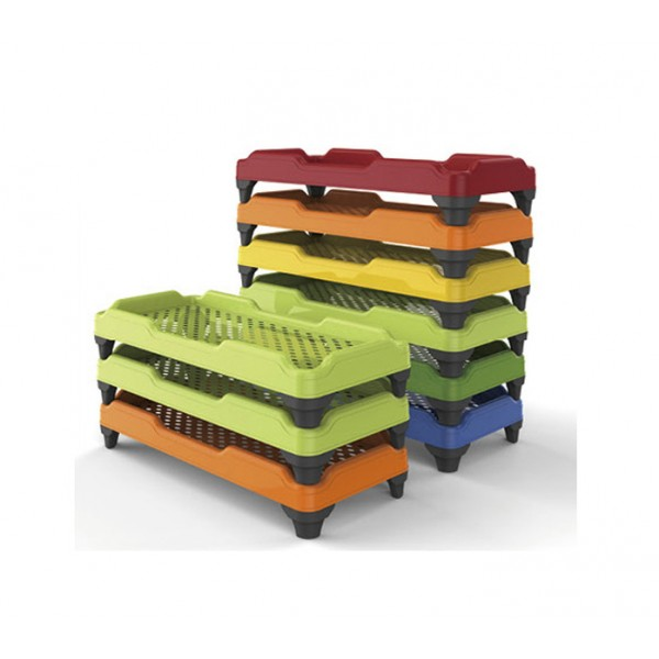 幼兒園床幼兒午休床幼稚園疊疊床兒童專用環保無味塑料床