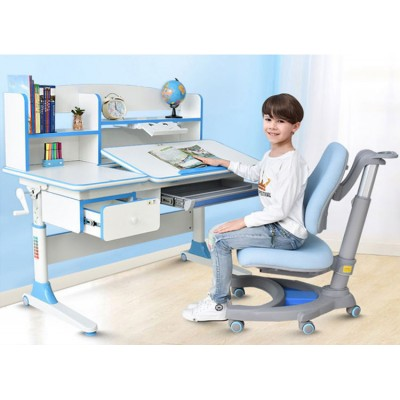 兒童學習桌可調升降學生讀書桌台寫字作業桌家用課桌