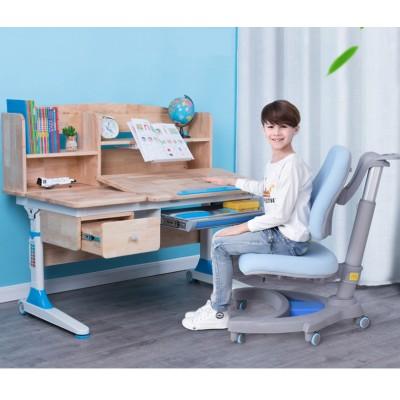 可升降兒童家用實木學習桌小學生寫字桌