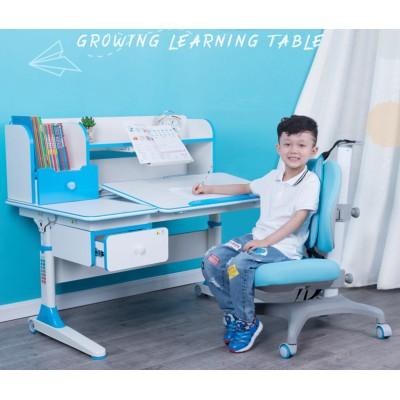 實木兒童學習桌小學生可升降初中讀書桌子寫字桌椅套裝