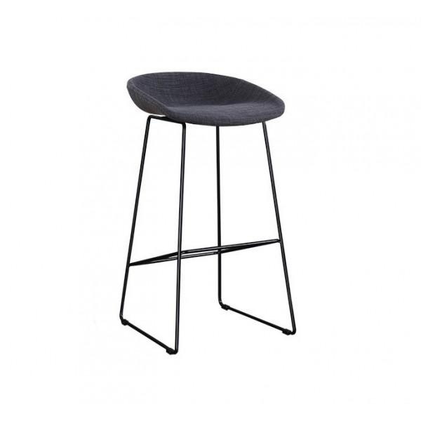 北歐風時尚實木高腳凳前台椅子創意設計黑爾吧椅