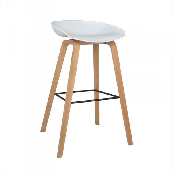 伊姆斯塑膠椅面高吧椅子北歐簡約實木椅
