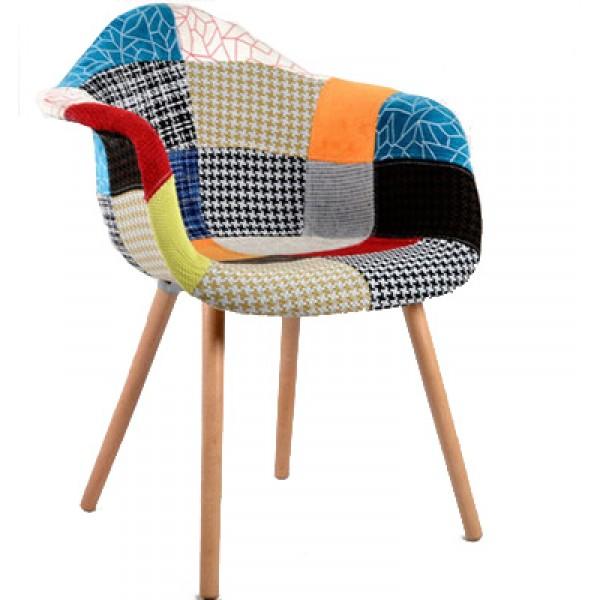 現代簡約軟靠背椅百家布伊姆斯椅布藝軟包休閒椅