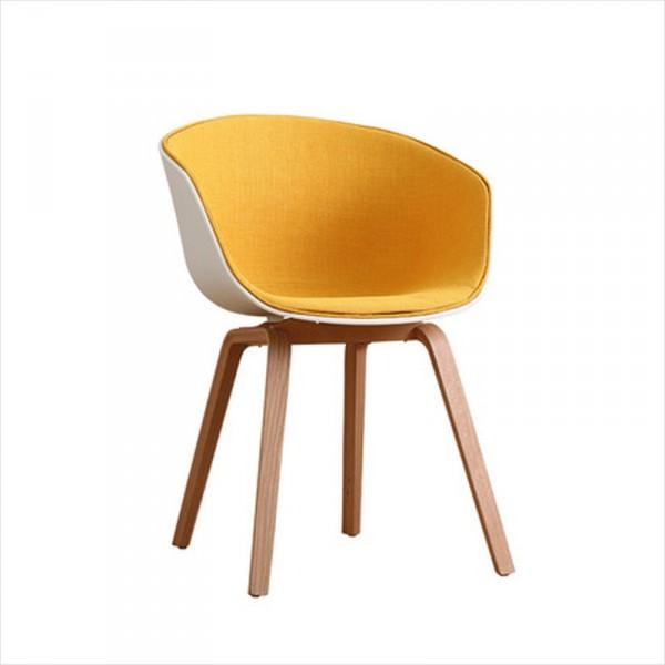 簡約實木腿休閒椅北歐麵包椅批發伊姆斯包布椅
