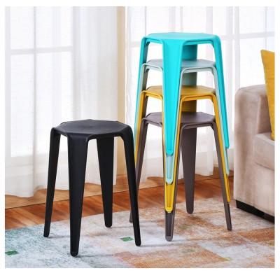 時尚塑料凳子創意加厚高凳戶外塑料椅