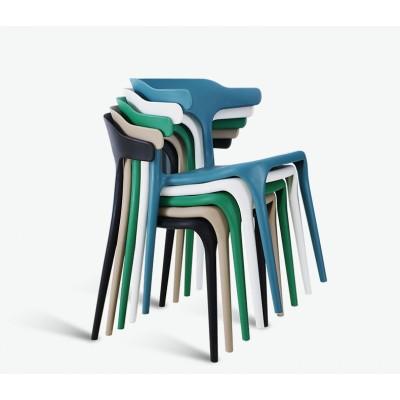現代簡約塑料椅子北歐休閒創意小椅子