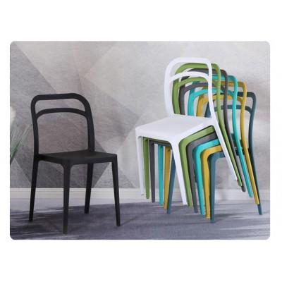 休閒椅子創意現代簡約時尚辦公洽談椅塑料戶外明式扶手椅