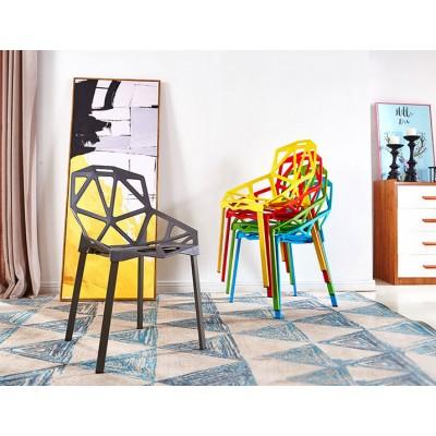 北歐時尚變形金剛椅現代簡約休閒靠背塑料椅
