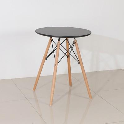现代简约洽谈桌子烤漆面压缩木板榉木腿休闲餐桌