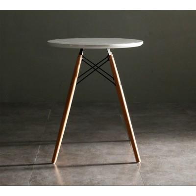 北欧伊姆斯接待会客洽谈桌现代简塑料实木桌椅