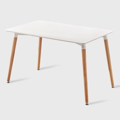 北歐時尚簡約現代接待實木腿洽談桌