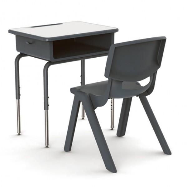 防火板學生課桌椅 中小學升降單人桌