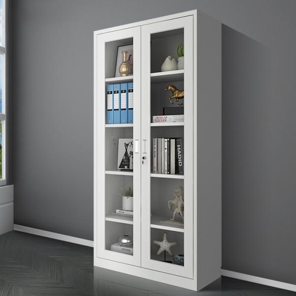 通體玻璃文件櫃帶鎖資料櫃財務檔案櫃材料櫃