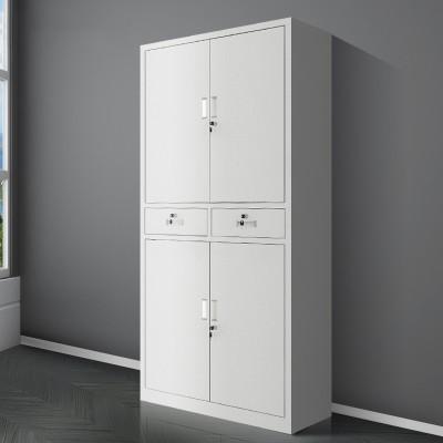 中二斗鐵門文件櫃鐵皮櫃多層鐵門對開資料櫃抽屜帶鎖財務檔案櫃