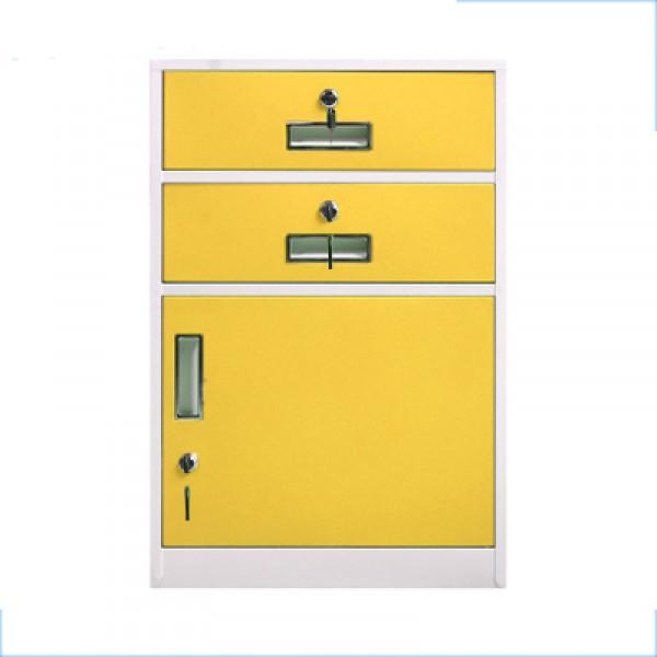 新款鋼制彩色活動櫃帶輪辦公矮櫃儲物櫃多鬥抽屜櫃文件資料櫃